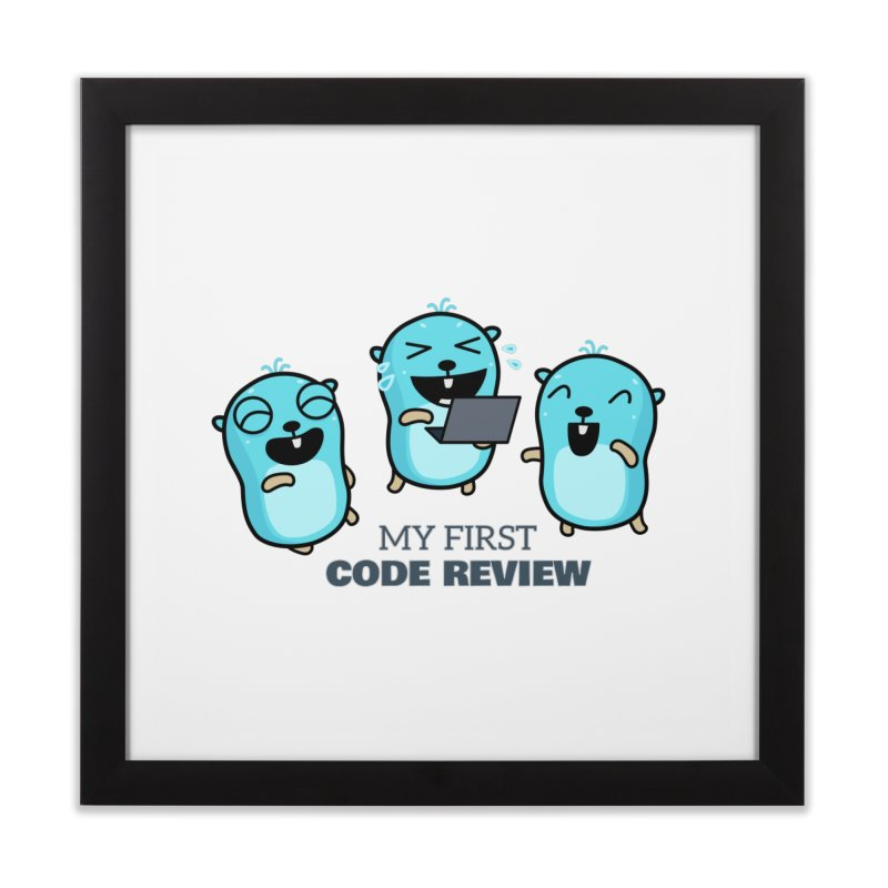 My first code review Home Framed Fine Art Print by Be like a Gopher