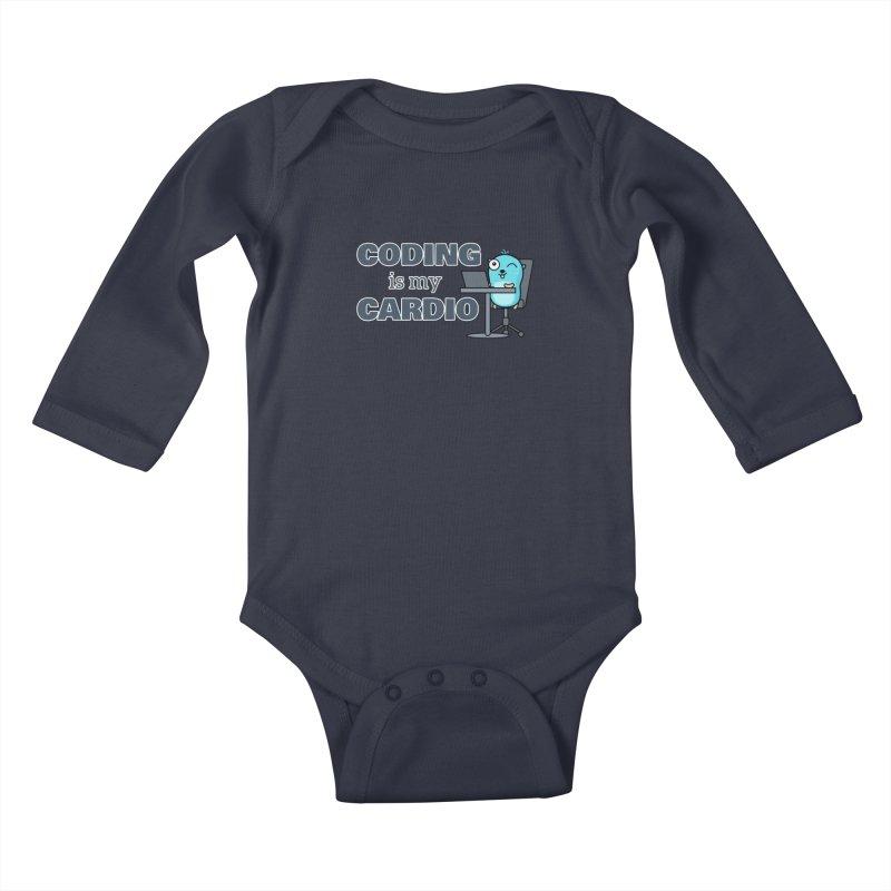 Coding is my cardio Kids Baby Longsleeve Bodysuit by Be like a Gopher