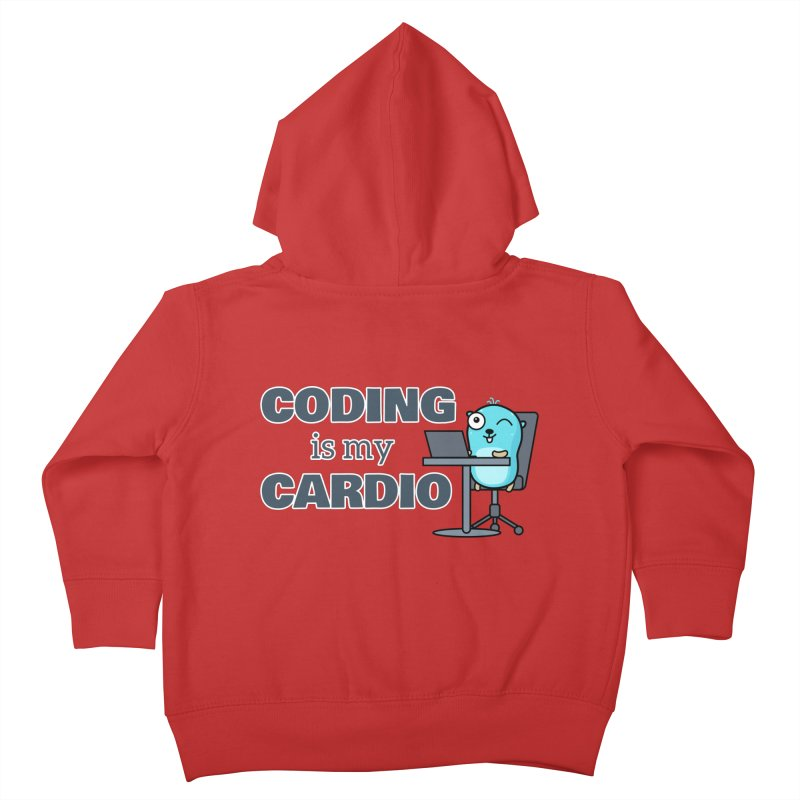 Coding is my cardio Kids Toddler Zip-Up Hoody by Be like a Gopher