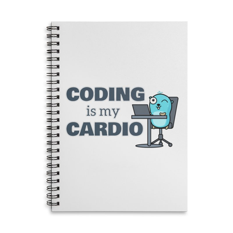 Coding is my cardio Accessories Notebook by Be like a Gopher