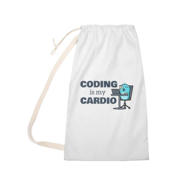 Coding is my cardio Accessories Bag by Be like a Gopher