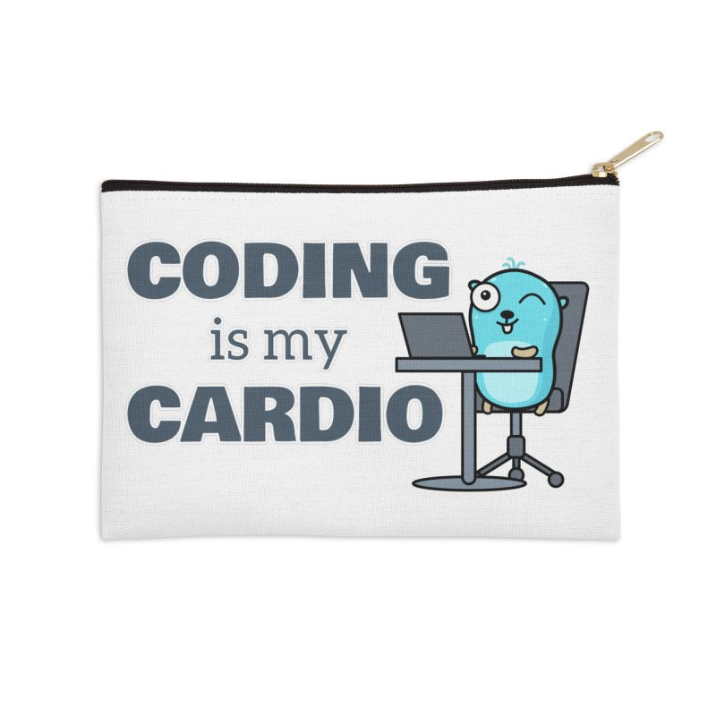 Coding is my cardio Accessories Zip Pouch by Be like a Gopher