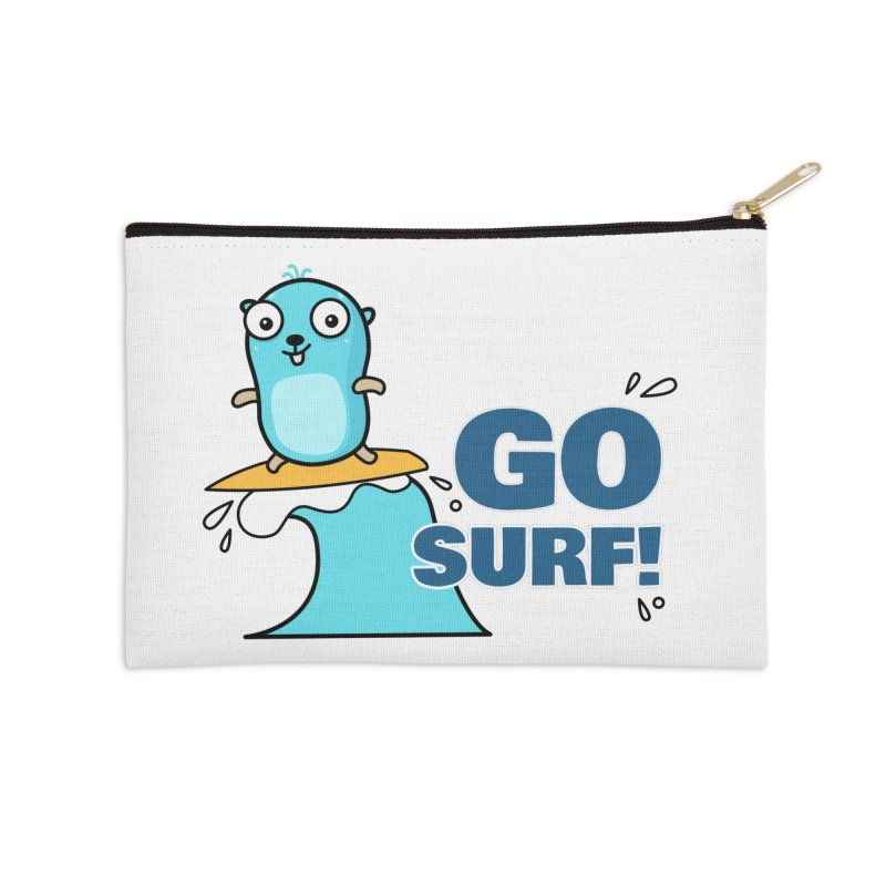 Go surf! Accessories Zip Pouch by Be like a Gopher