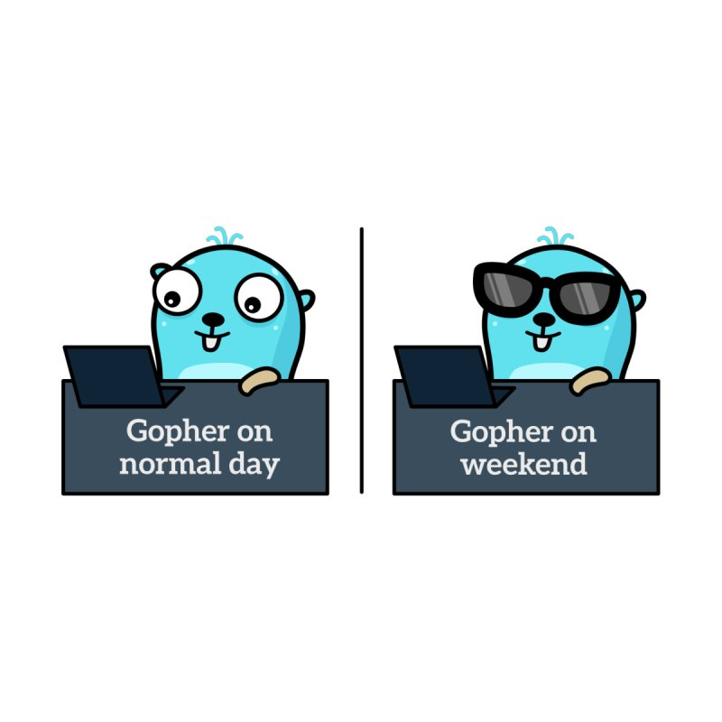 Gopher weekend and normal day Accessories Sticker by Be like a Gopher