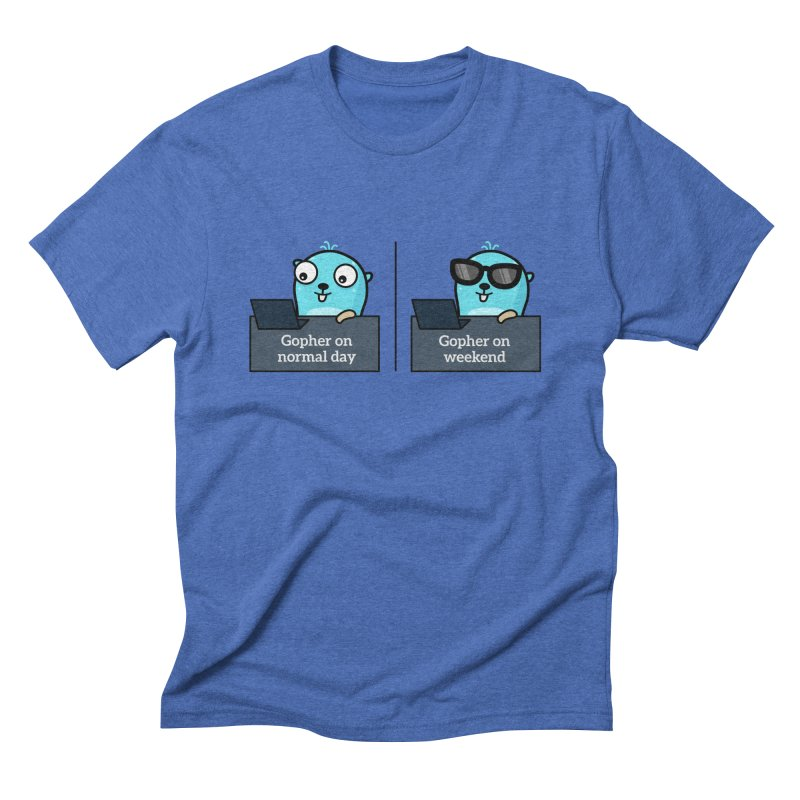 Gopher weekend and normal day Men's T-Shirt by Be like a Gopher