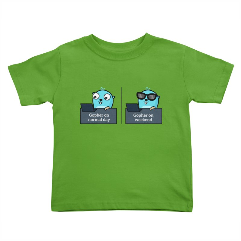 Gopher weekend and normal day Kids Toddler T-Shirt by Be like a Gopher