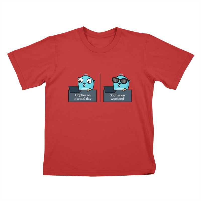 Gopher weekend and normal day Kids T-Shirt by Be like a Gopher