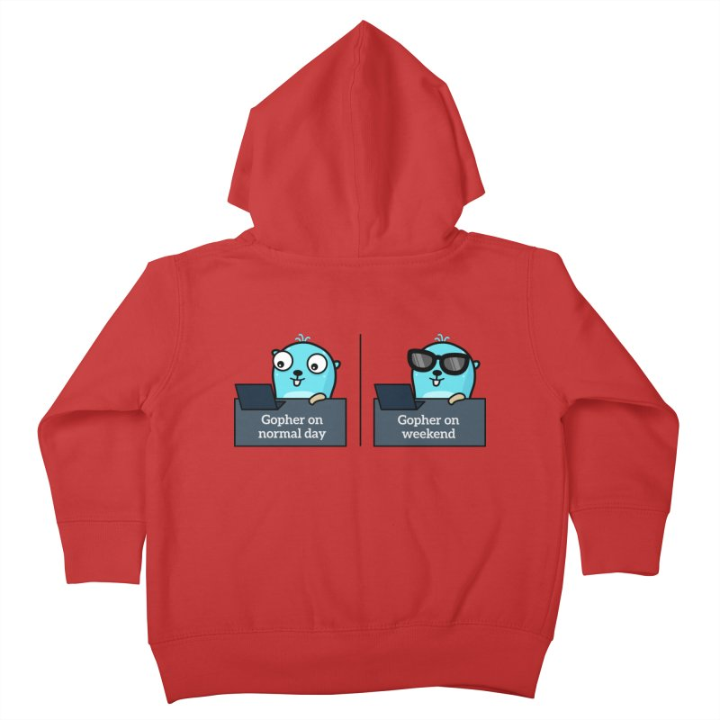 Gopher weekend and normal day Kids Toddler Zip-Up Hoody by Be like a Gopher