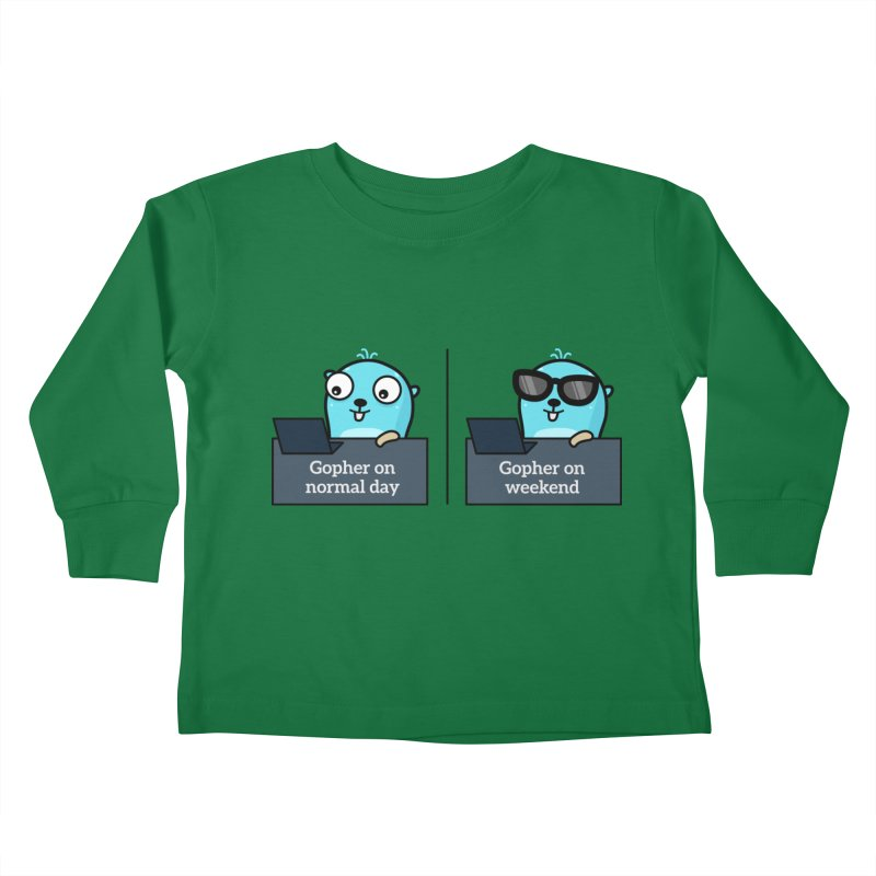 Gopher weekend and normal day Kids Toddler Longsleeve T-Shirt by Be like a Gopher