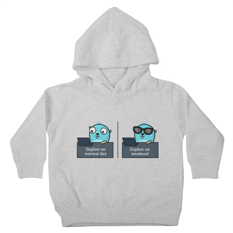 Gopher weekend and normal day Kids Toddler Pullover Hoody by Be like a Gopher