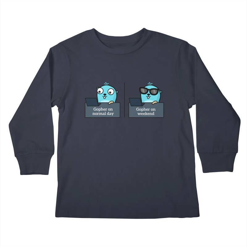 Gopher weekend and normal day Kids Longsleeve T-Shirt by Be like a Gopher
