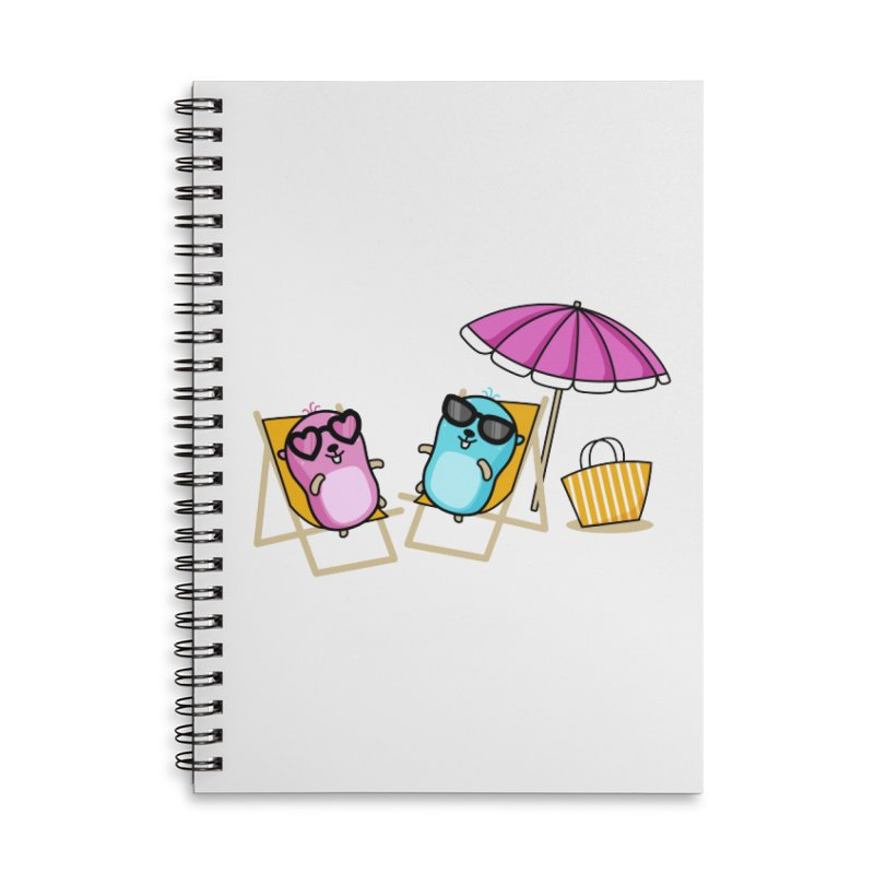 Go to beach Accessories Notebook by Be like a Gopher
