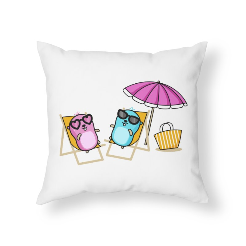 Go to beach Home Throw Pillow by Be like a Gopher