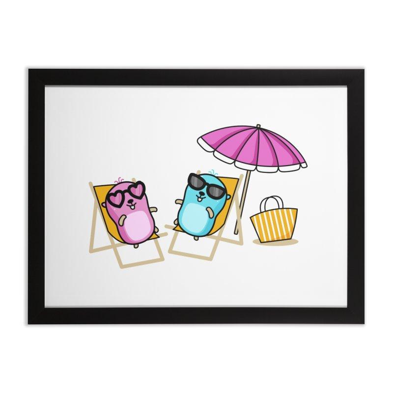 Go to beach Home Framed Fine Art Print by Be like a Gopher