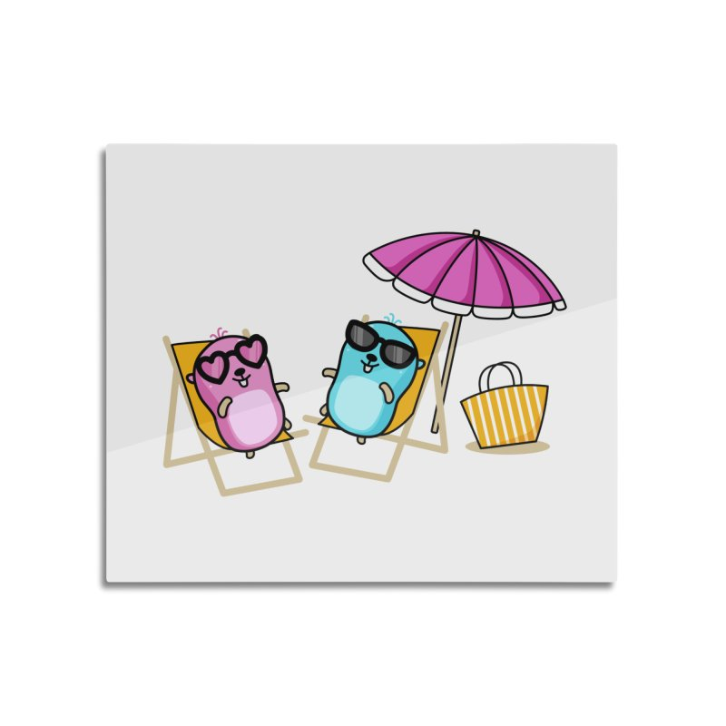 Go to beach Home Mounted Acrylic Print by Be like a Gopher