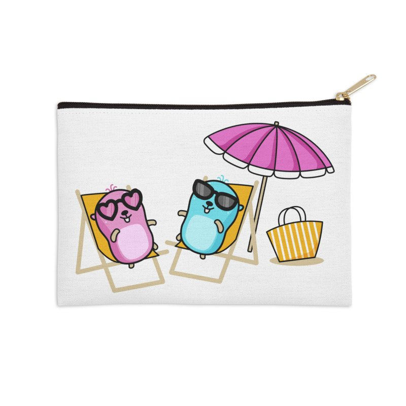 Go to beach Accessories Zip Pouch by Be like a Gopher