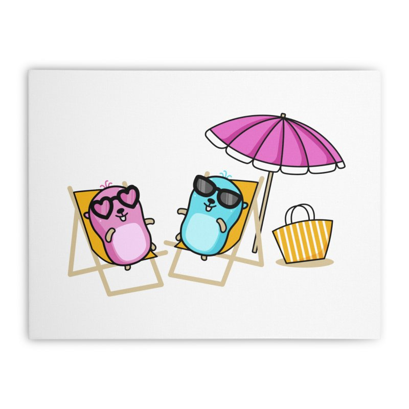 Go to beach Home Stretched Canvas by Be like a Gopher