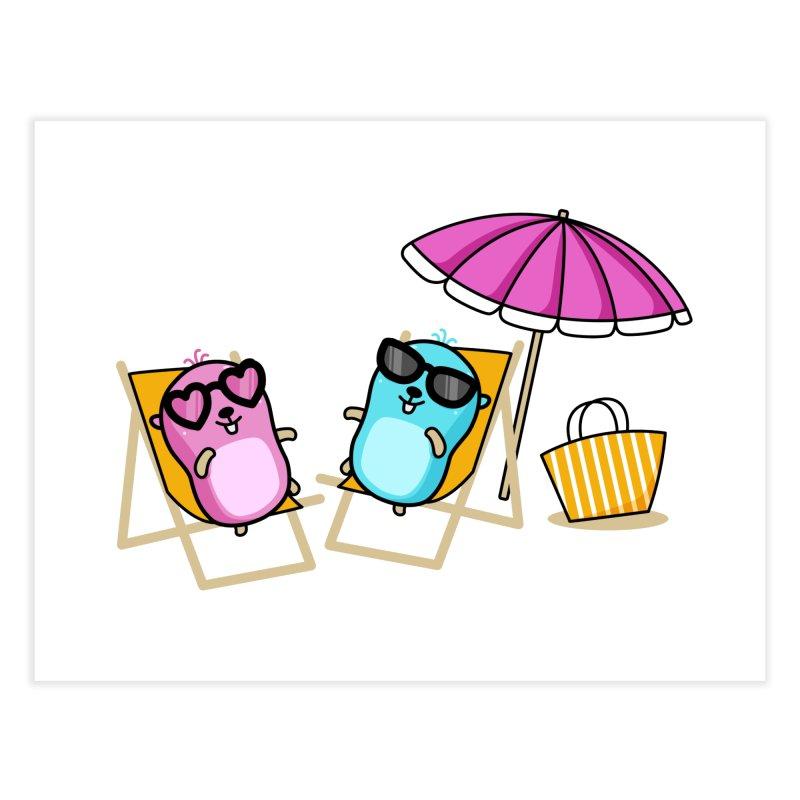 Go to beach Home Fine Art Print by Be like a Gopher