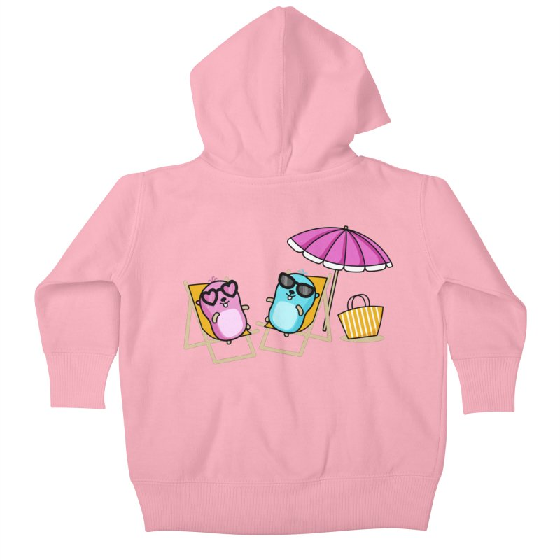 Go to beach Kids Baby Zip-Up Hoody by Be like a Gopher