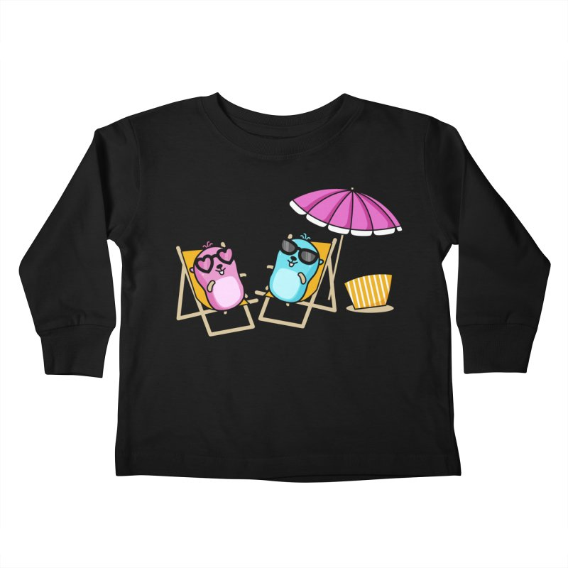 Go to beach Kids Toddler Longsleeve T-Shirt by Be like a Gopher
