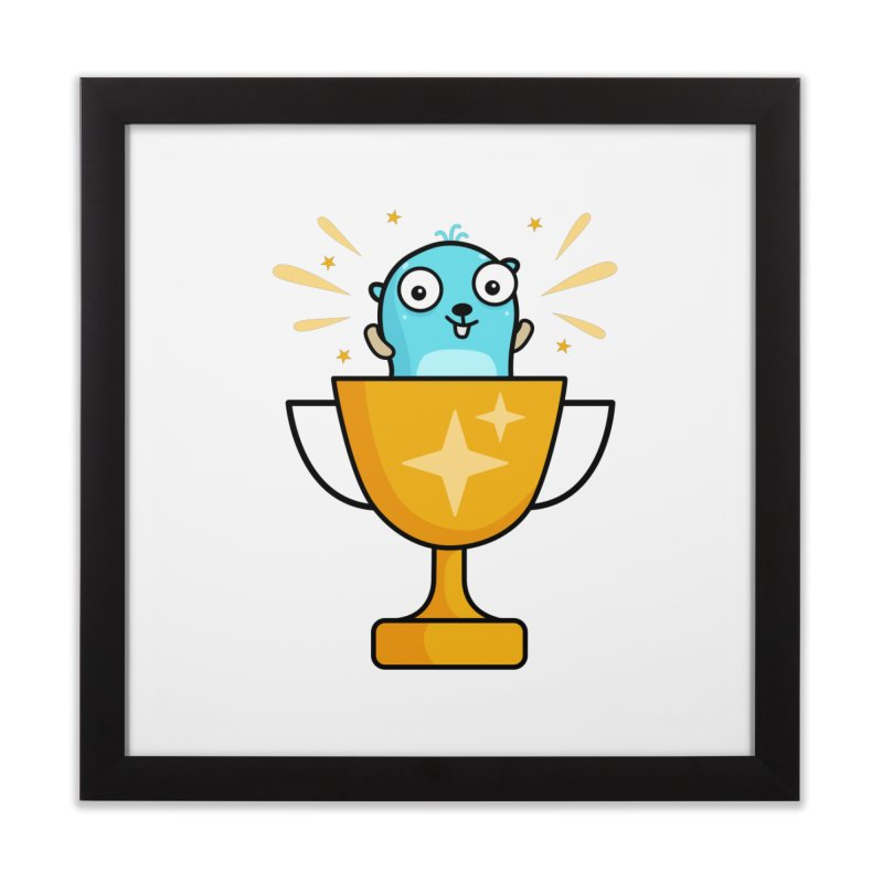 Champion gopher Home Framed Fine Art Print by Be like a Gopher
