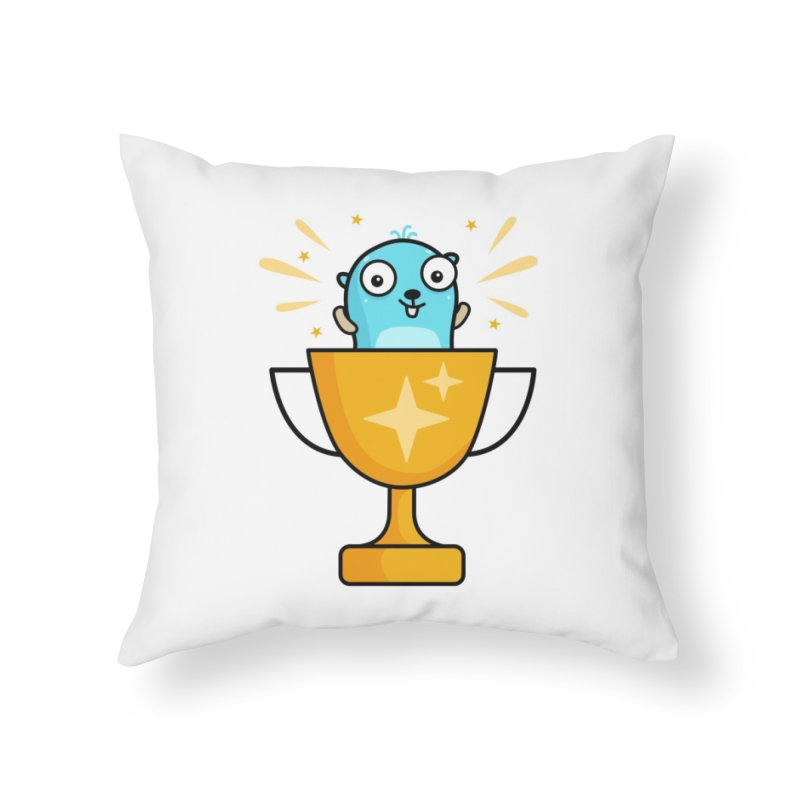 Champion gopher Home Throw Pillow by Be like a Gopher