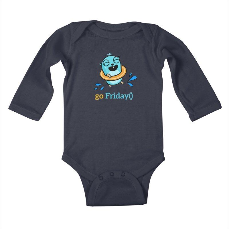 go Friday() Kids Baby Longsleeve Bodysuit by Be like a Gopher