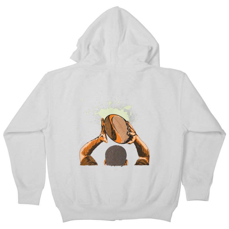 T. N. J. RUGBY Kids Zip-Up Hoody by goreccs's Artist Shop