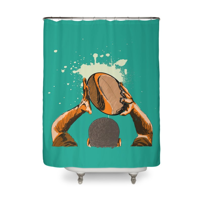 T. N. J. RUGBY Home Shower Curtain by goreccs's Artist Shop
