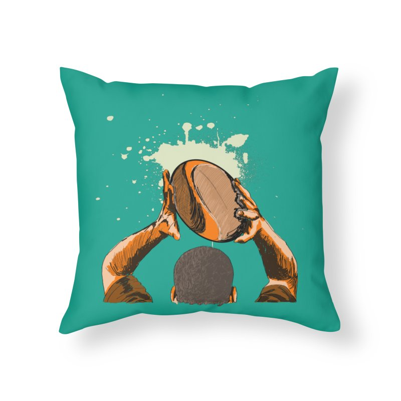 T. N. J. RUGBY Home Throw Pillow by goreccs's Artist Shop