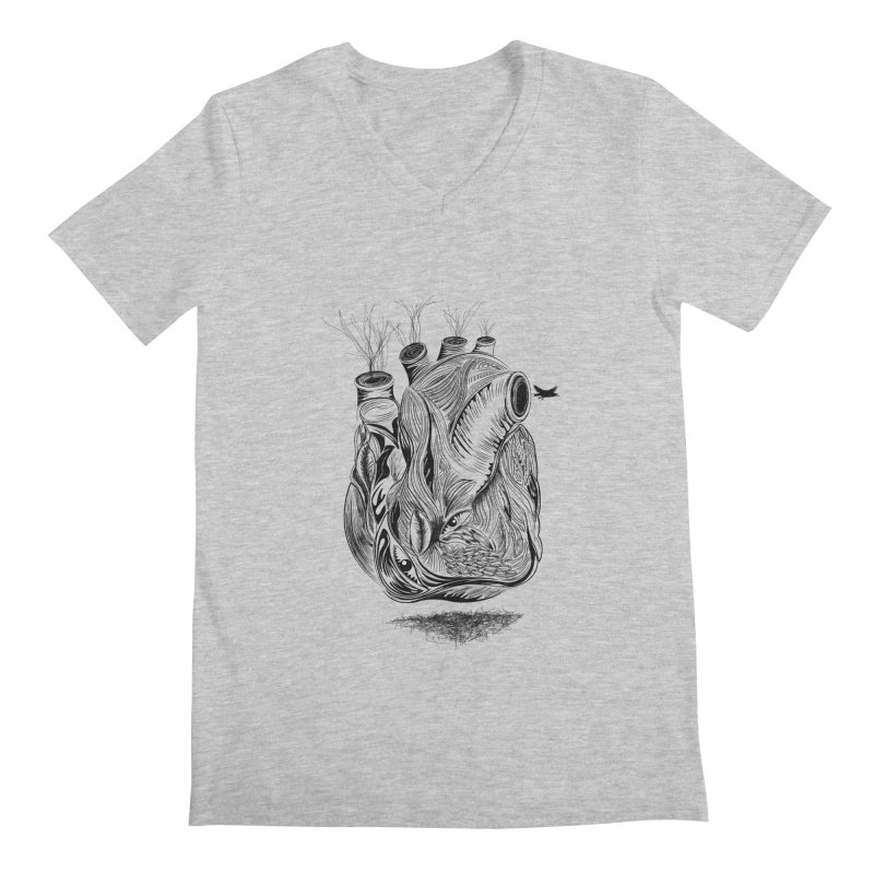 Dry Heart Men's V-Neck by goreccs's Artist Shop
