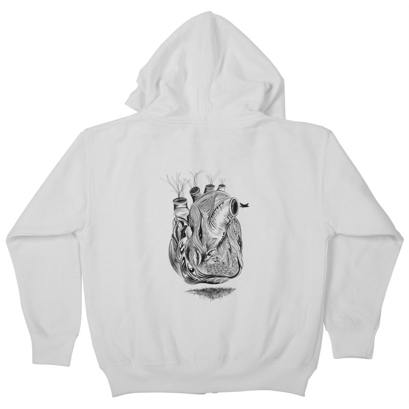 Dry Heart Kids Zip-Up Hoody by goreccs's Artist Shop