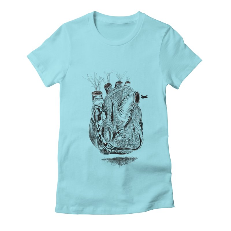 Dry Heart Women's Fitted T-Shirt by goreccs's Artist Shop
