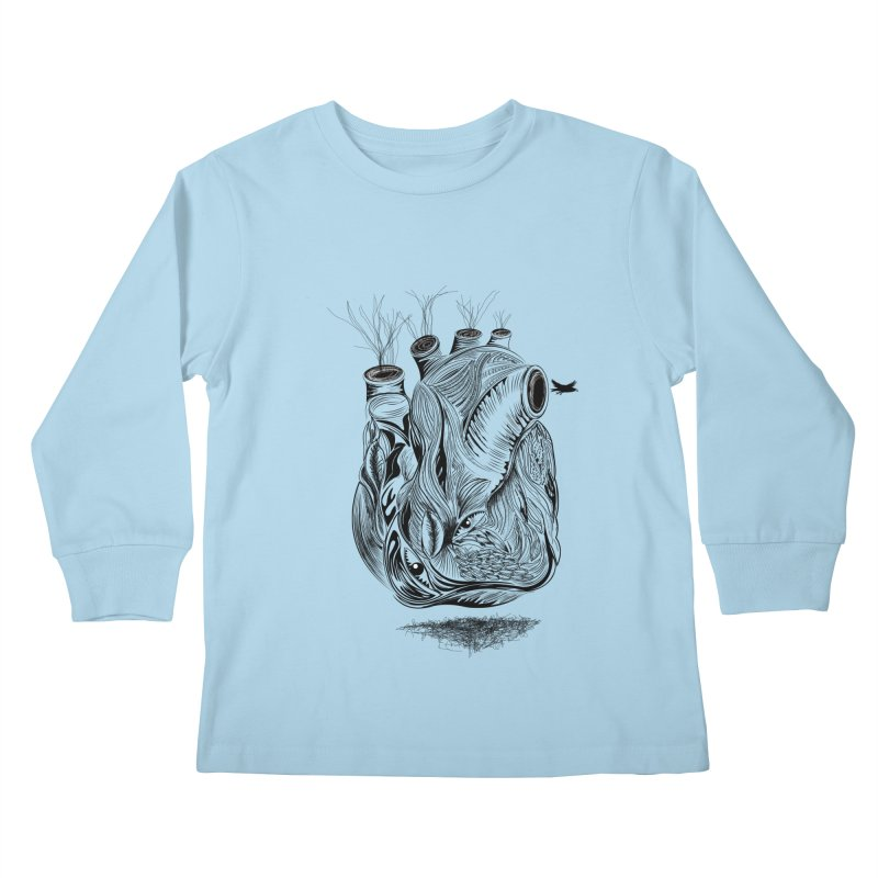 Dry Heart Kids Longsleeve T-Shirt by goreccs's Artist Shop