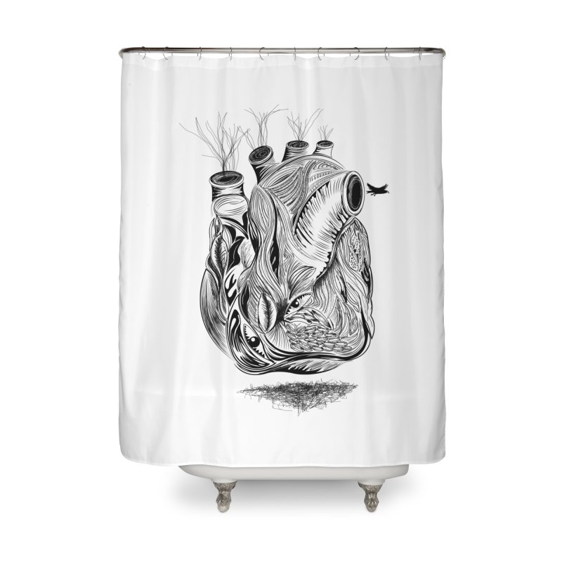 Dry Heart Home Shower Curtain by goreccs's Artist Shop