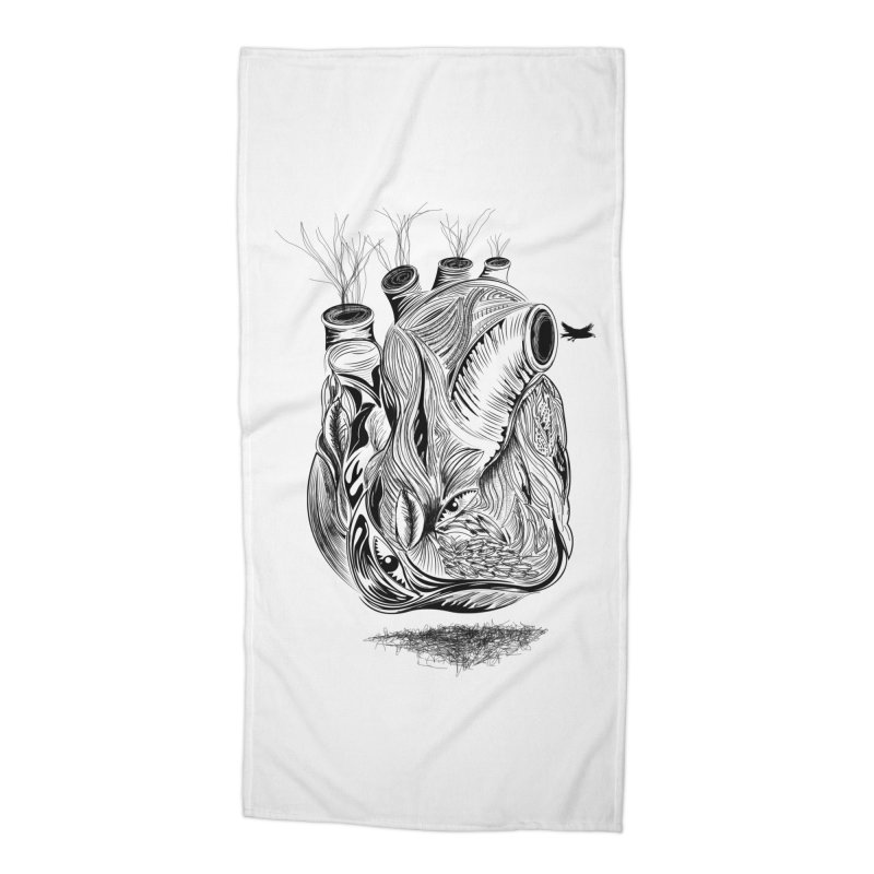 Dry Heart Accessories Beach Towel by goreccs's Artist Shop