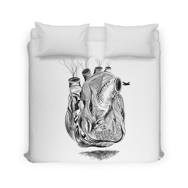 Dry Heart Home Duvet by goreccs's Artist Shop