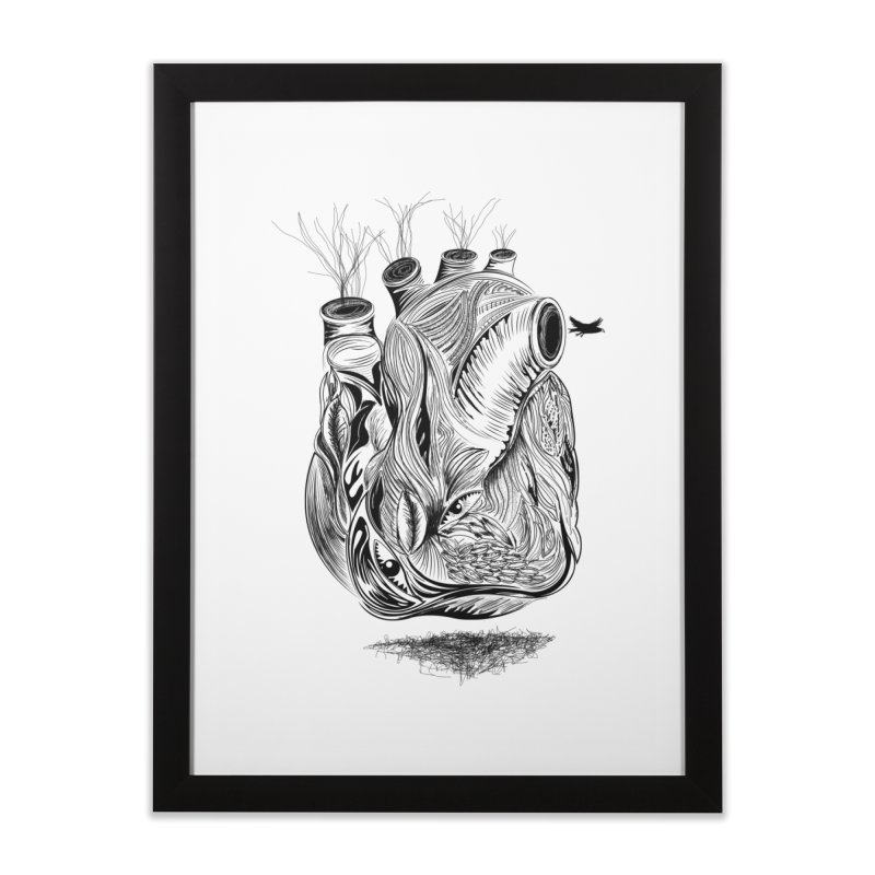 Dry Heart Home Framed Fine Art Print by goreccs's Artist Shop