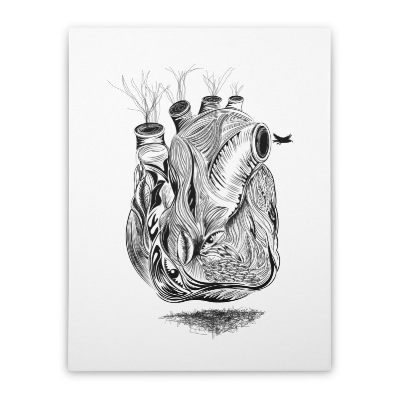Dry Heart Home Stretched Canvas by goreccs's Artist Shop