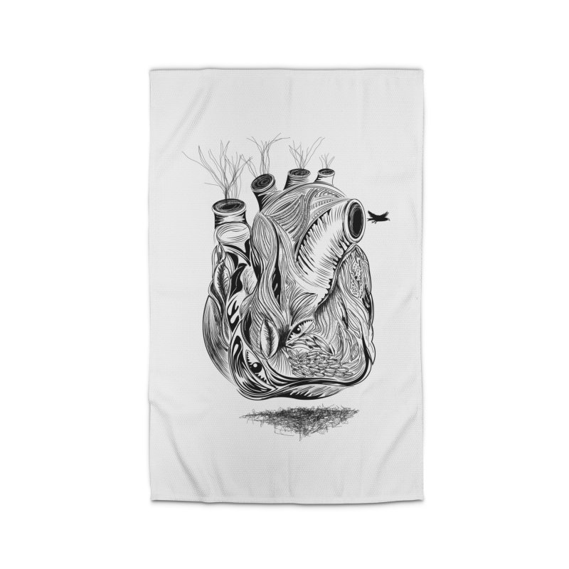Dry Heart Home Rug by goreccs's Artist Shop