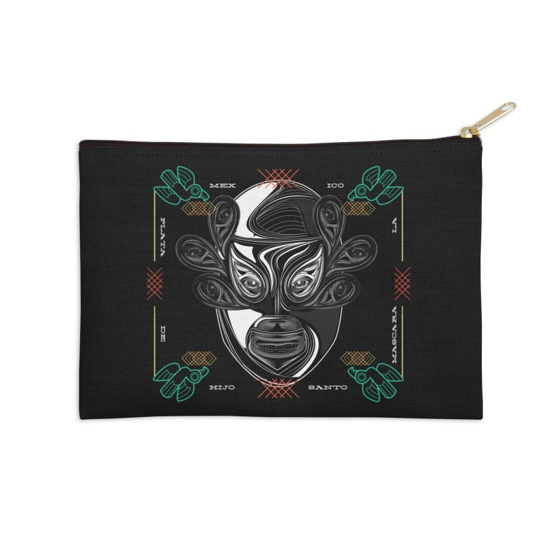 El Hijo del Santo Accessories Zip Pouch by goreccs's Artist Shop