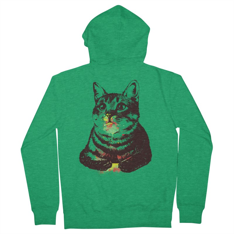 Cat_loves_watercolor Men's Zip-Up Hoody by gorix's Artist Shop