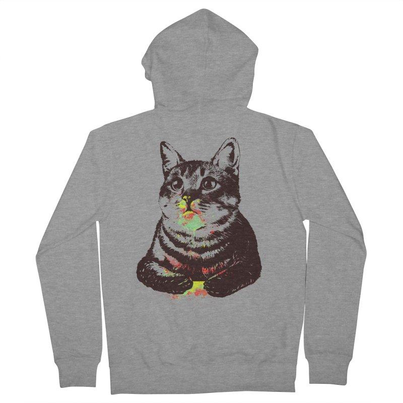 Cat_loves_watercolor Men's Zip-Up Hoody by gorix's Artist Shop