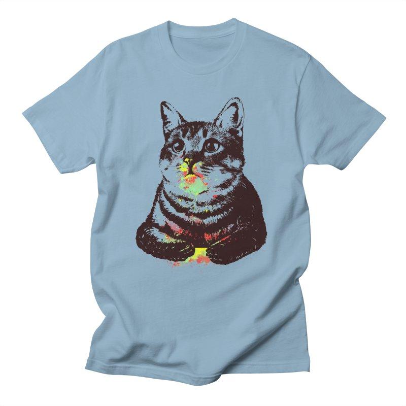Cat_loves_watercolor Men's T-shirt by gorix's Artist Shop