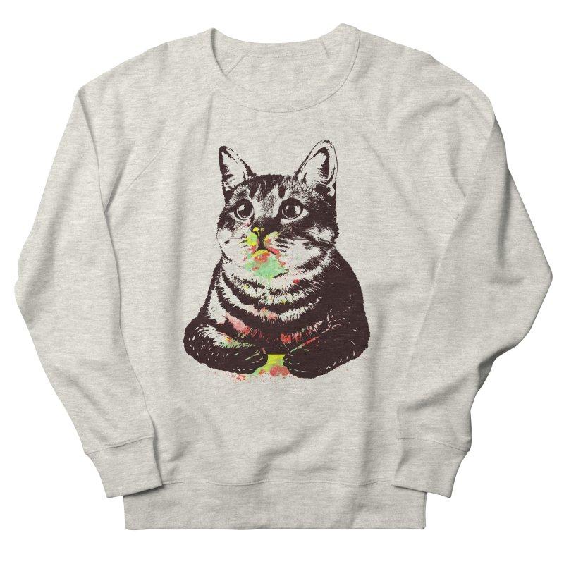 Cat_loves_watercolor Men's Sweatshirt by gorix's Artist Shop