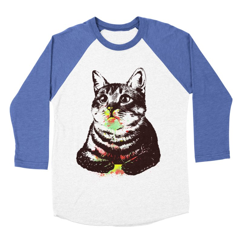 Cat_loves_watercolor Women's Baseball Triblend T-Shirt by gorix's Artist Shop