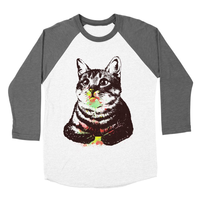 Cat_loves_watercolor Men's Baseball Triblend T-Shirt by gorix's Artist Shop