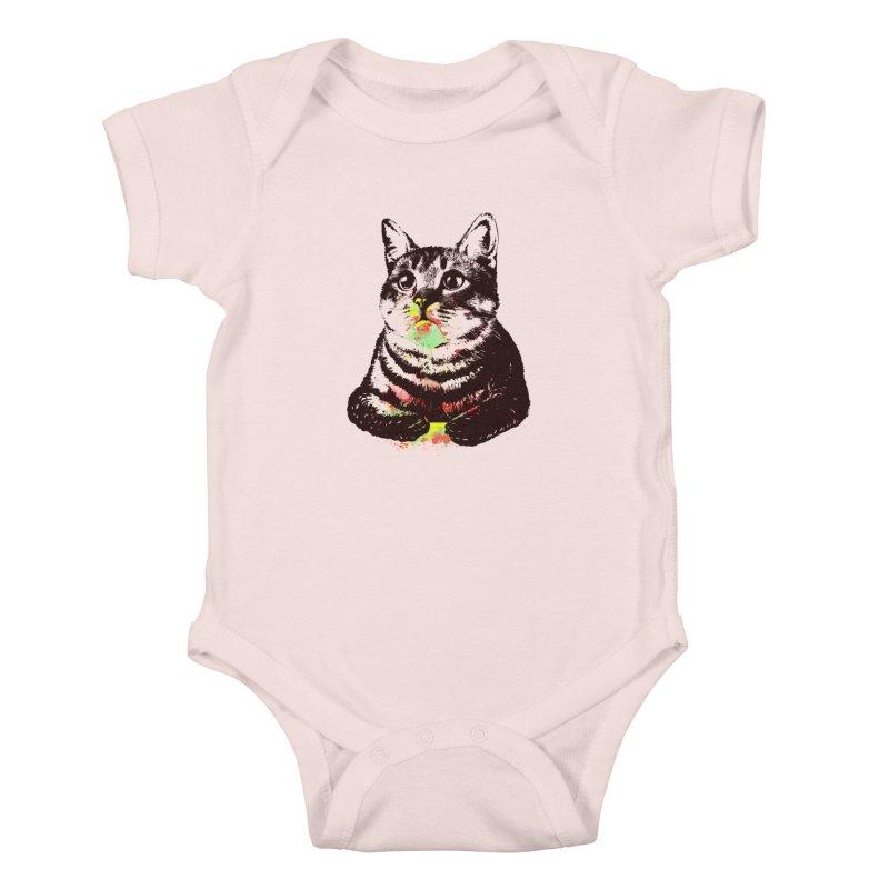 Cat_loves_watercolor Kids Baby Bodysuit by gorix's Artist Shop