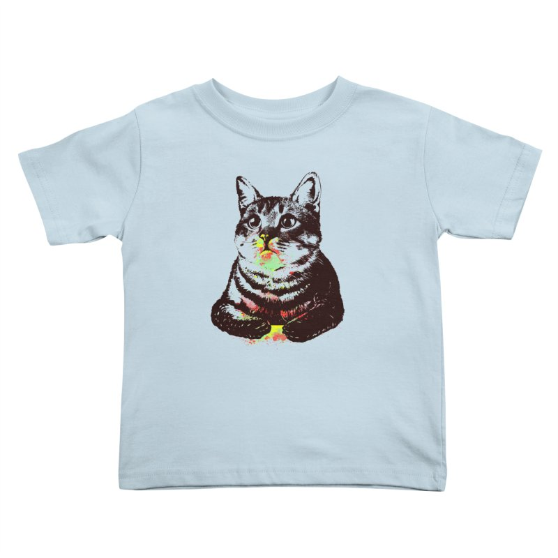 Cat_loves_watercolor Kids Toddler T-Shirt by gorix's Artist Shop