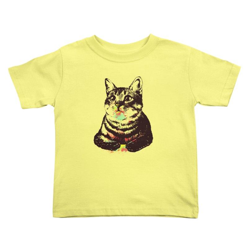 Cat_loves_watercolor Kids Toddler T-Shirt by gorix's Artist Shop